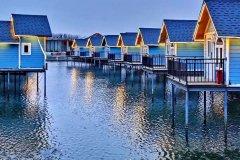 乐亭月岛水乡海上木屋