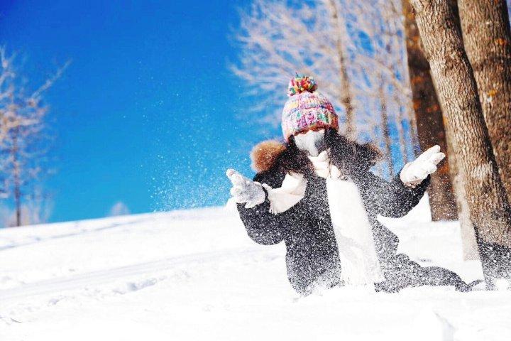 牡丹江东北女孩在雪乡客栈