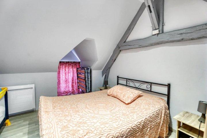 罗莫朗坦朗特奈一居公寓美丽城景酒店 - 附无线上网(Apartment with One Bedroom in Romorantin-Lanthenay, with Wonderful City View and Wifi)